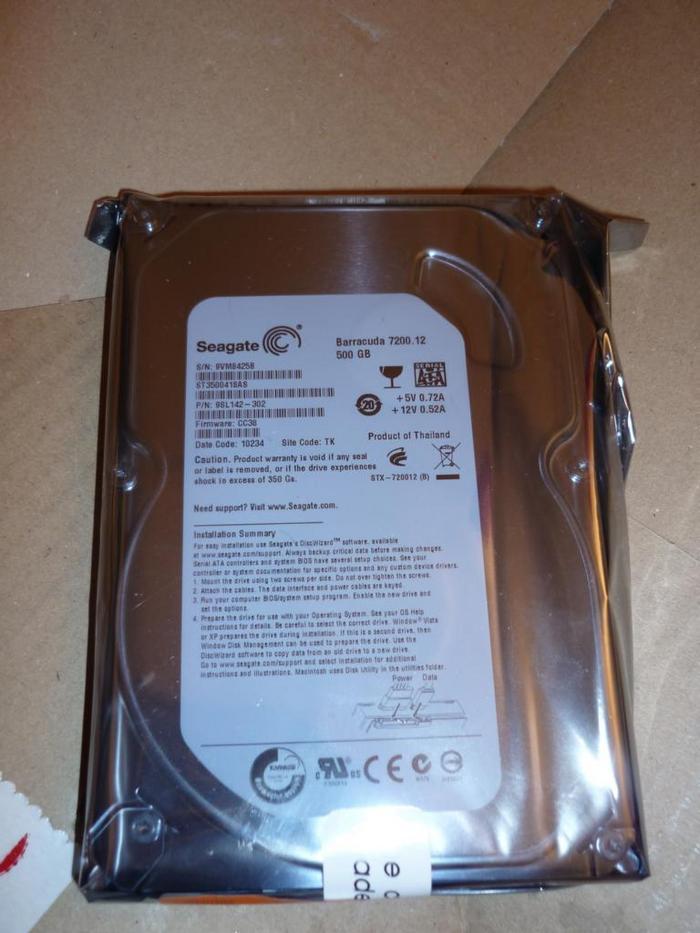 3621257 - [Review] [Festplatte] - 500GB Seagate ST3500418AS 7200 16MB 7200 Umin SATA